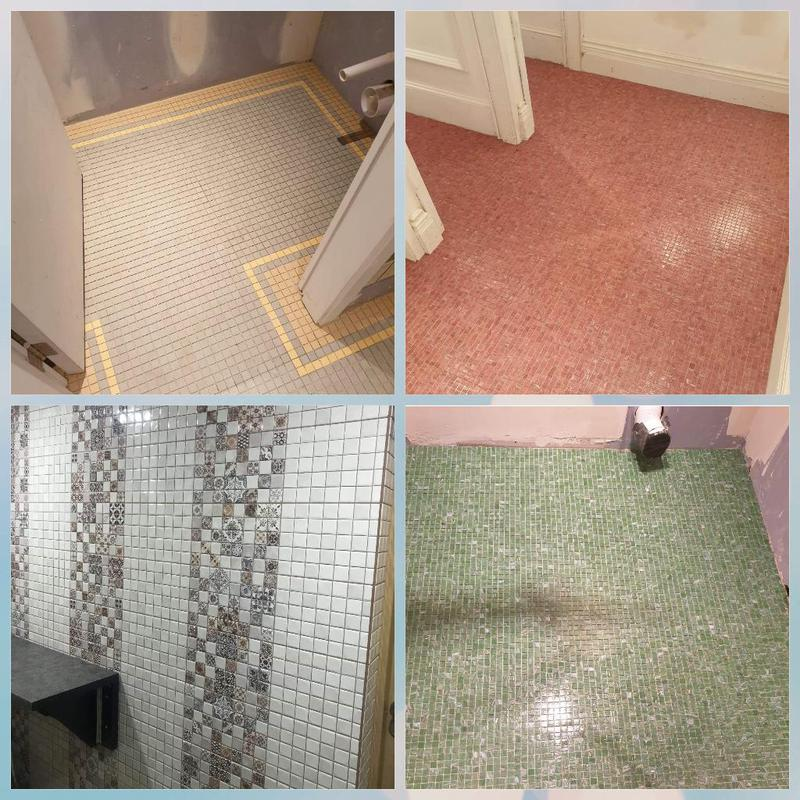 Image 52 - Floor & Wall mosaic style tiling (work in progress)