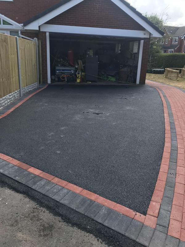 Image 12 - Tarmacadam with paving edge
