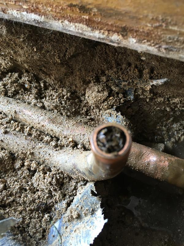 Image 54 - Finding blocked central heating pipes