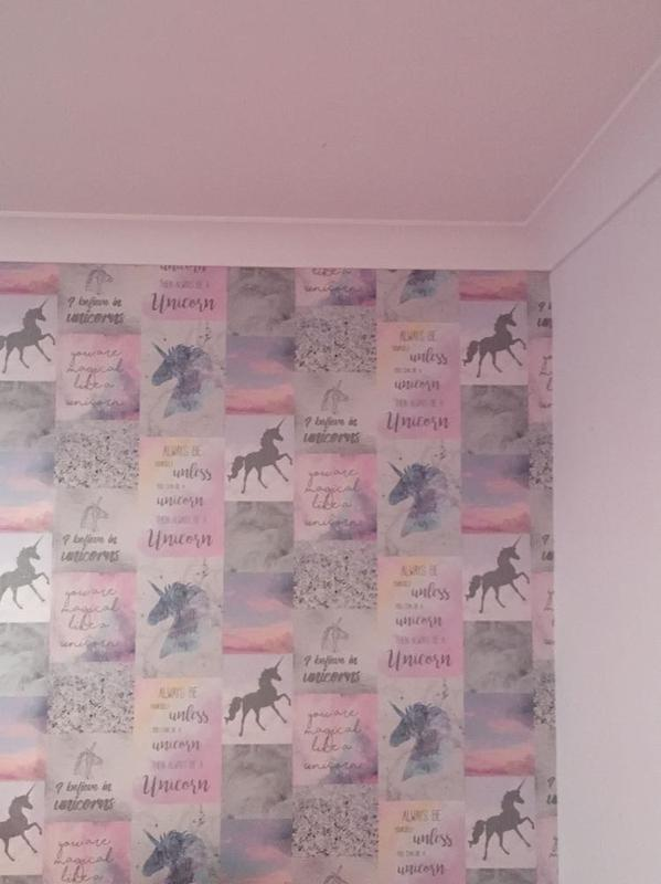 Image 20 - unicorn wall paper to make a feature wall