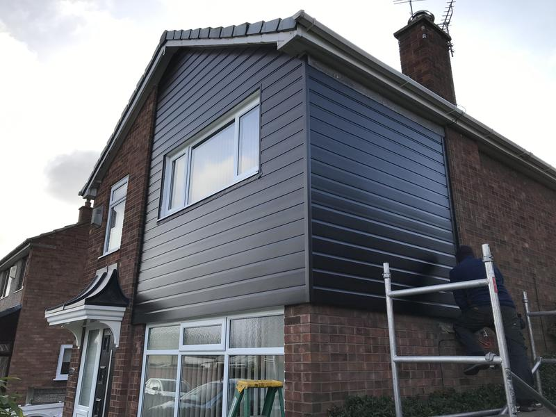 Image 14 - 150mm ship lap cladding in grey ,
