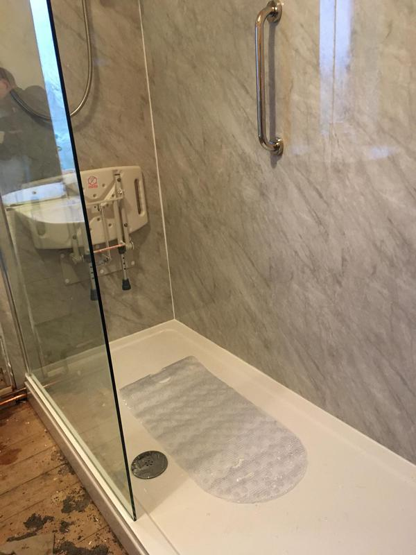 Image 17 - Bath out, walk in shower Tray, with shower and seat fitted