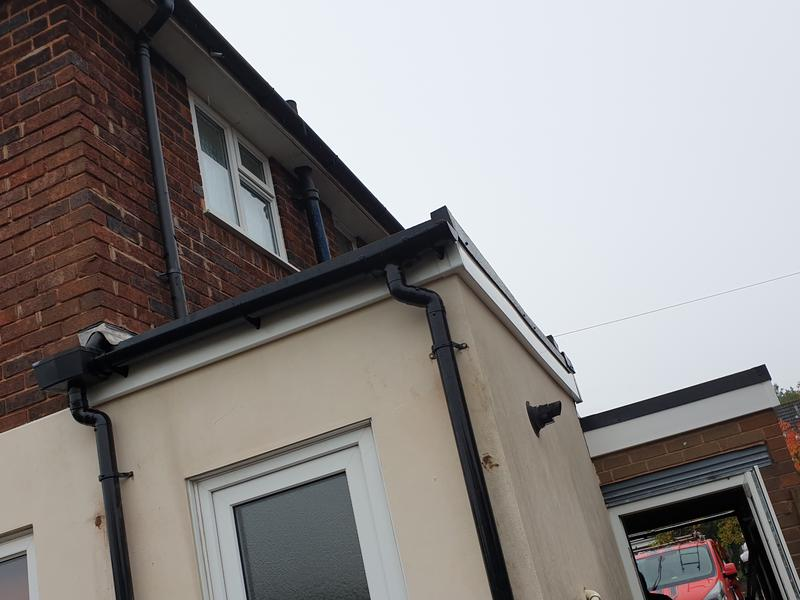 Image 7 - Completed fascias and guttering after the new roof was installed.