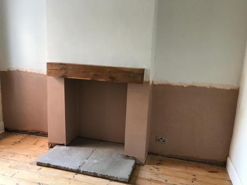 Image 11 - Damp proofing finished to chimney breast wall.