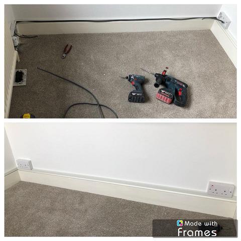 Image 4 - Additional sockets using mini trunking
