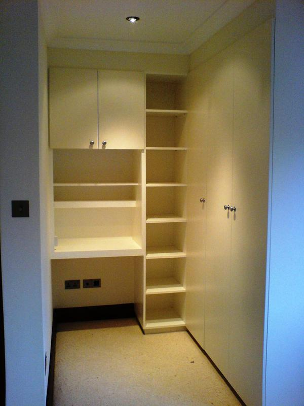 Image 5 - Design and fitted bedroom furniture: wardrobe, desk, wall cabinet and shelving unit constructed from solid mdf and painted