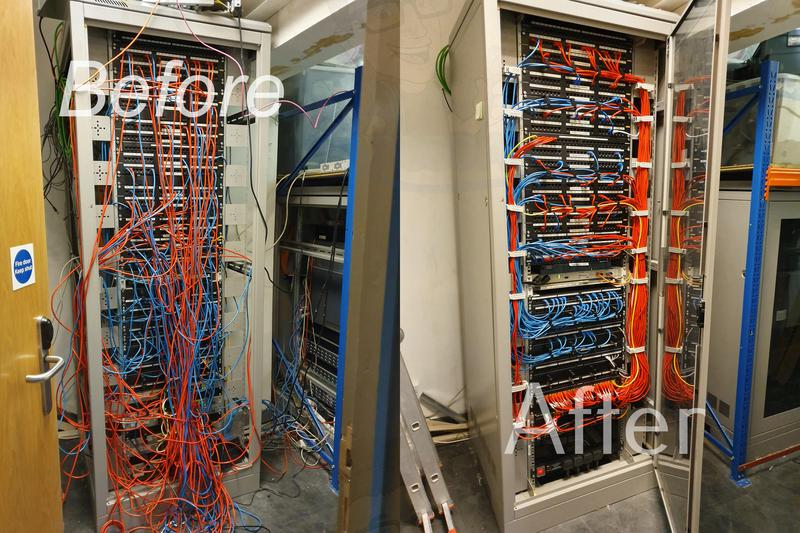 Image 39 - Comms cabinet before and after pictures all outlets tested and certified and custom made patch leads installed