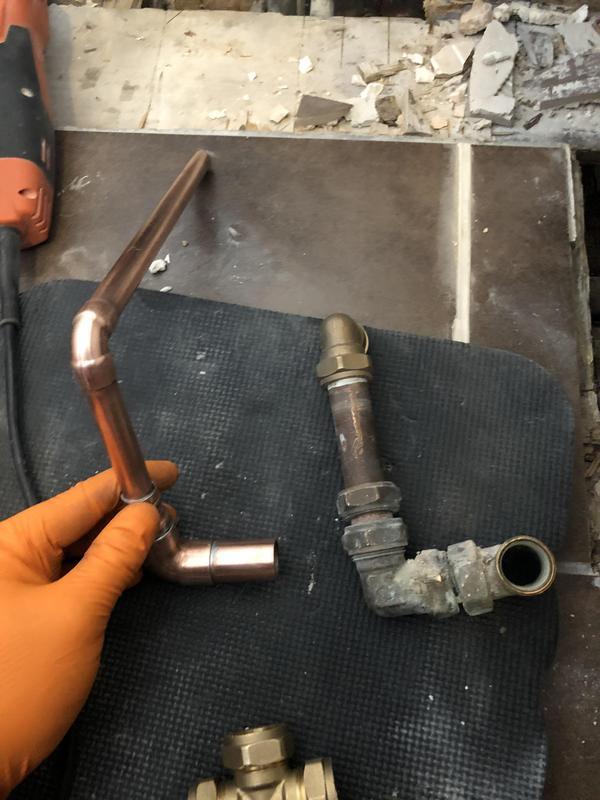 Image 39 - Replaced damaged pipe work