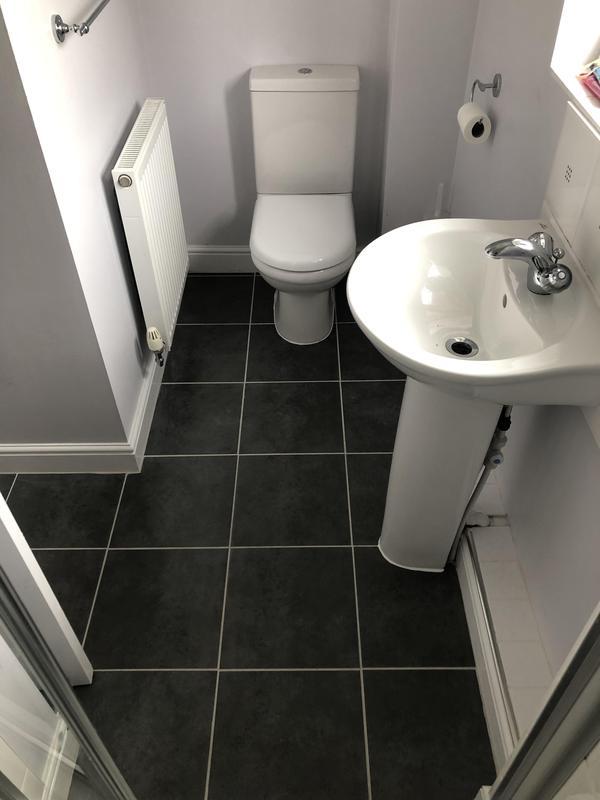 Image 16 - New en-suite tiled floor & toilet install