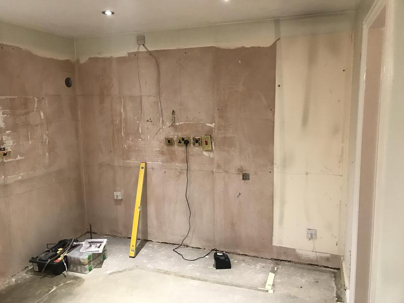 Image 23 - Customer 0092: the kitchen now removed ready for the works to be started. Knocking the dining room through into the kitchen area to create a more open space. Full re-plaster, electrics, new kitchen and flooring to create customers dream room.