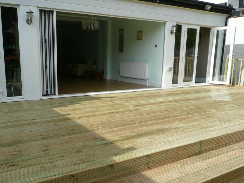 Image 21 - decking, pressured treated softwood.