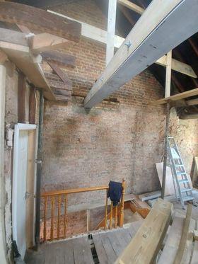 Image 39 - First floor before renovation - demolition, steel beams installation, joists replacing, new stud walls, Chigwell IG7