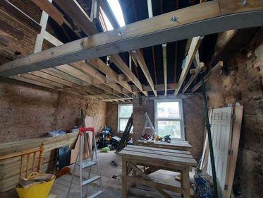 Image 41 - First floor before renovation - demolition, steel beams installation, joists replacing, new stud walls, Chigwell IG7