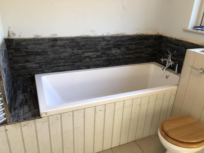 Image 15 - New Bath & wall tiling install