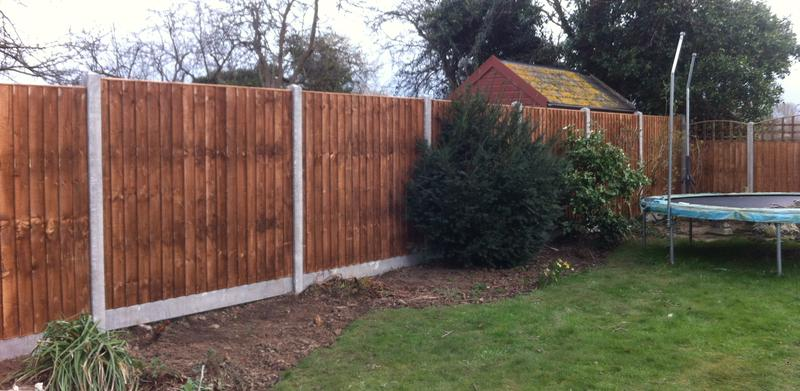Image 4 - Closeboard fence panels with concrete slotted posts and gravel boards.