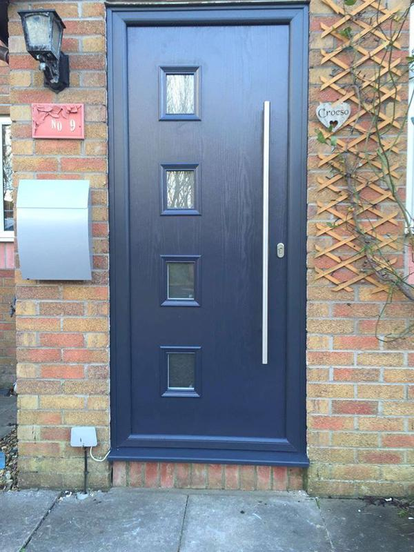 Image 69 - Contemporary composite front door in Anthracite Grey