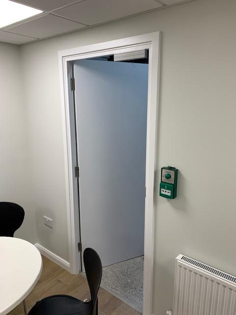 Image 12 - Request to exit, break glass and slim line Maglock below for an office in Hertfordshire