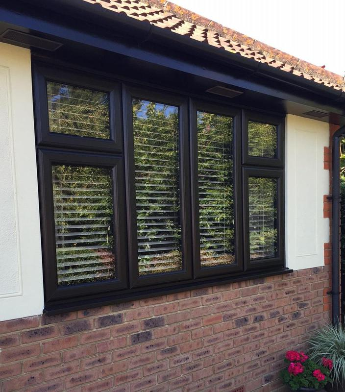 Image 34 - Black UPVC Double Glazed Window