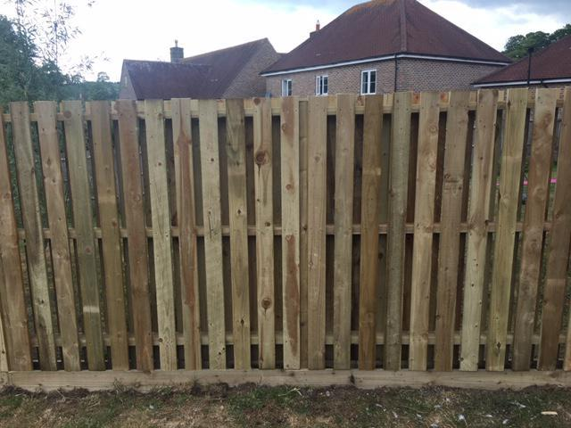 Image 85 - Double sided hit and miss style fencing, Charlton Down, Dorchester