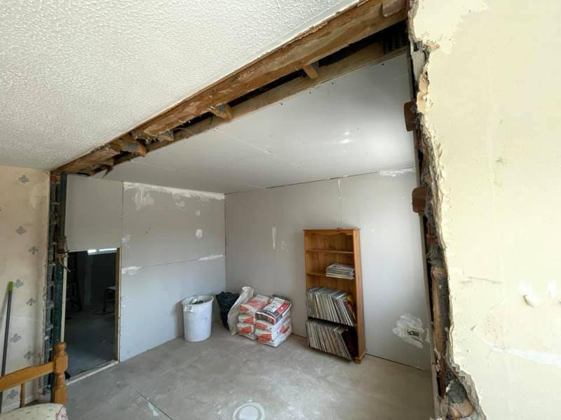 Image 119 - Double story extension - During - Knocked down wall on second floor