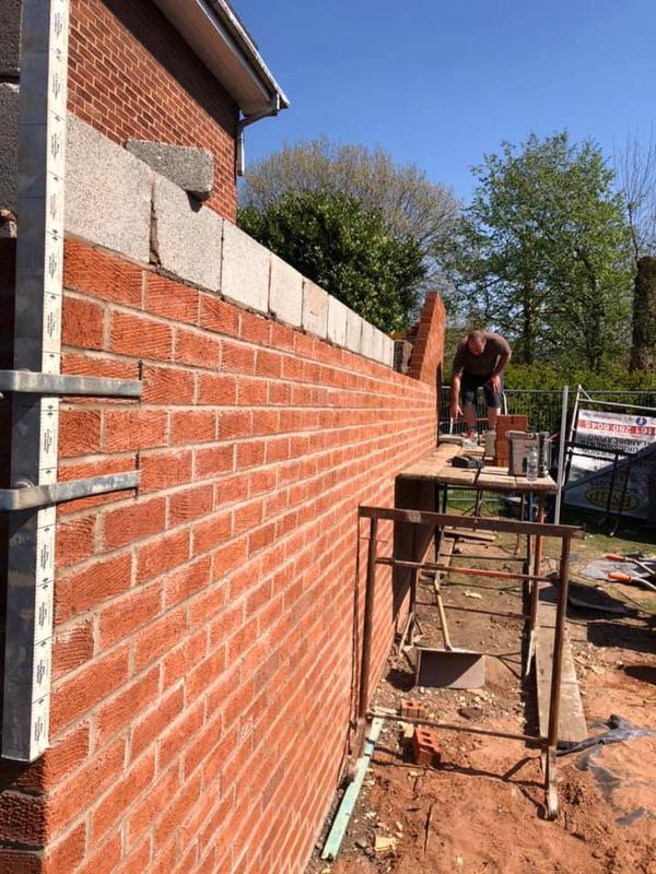 Image 138 - Stoneclough double story extension - brickwork