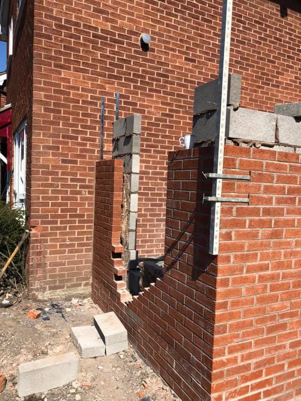 Image 137 - Stoneclough double story extension - Brickwork