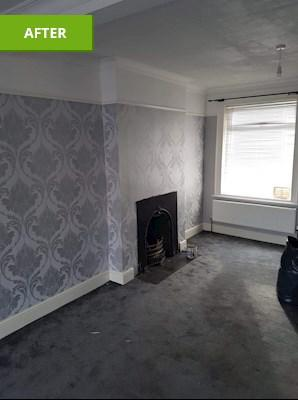 Image 4 - Papered wall