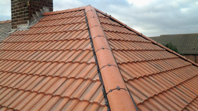 Image 18 - Dry ridge and hip system on tiled roof
