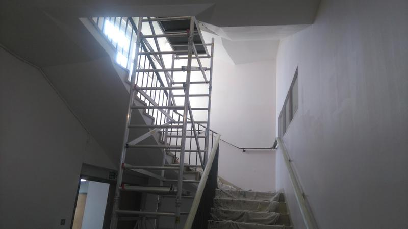 Image 6 - Stain blocking and re painting a school stairwell.