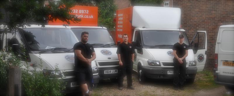 Image 1 - Team Leaders and Junk Vans
