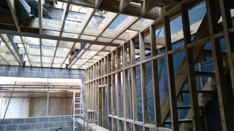 Image 16 - Floor joist and stud partition