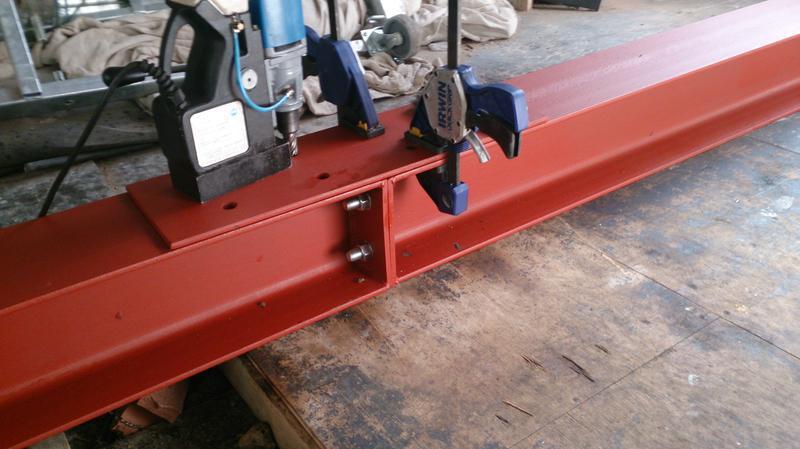 Image 26 - Steel beam fabrication