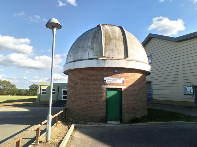 Image 28 - Fibre glass observatory roof, which houses a telescope. Before