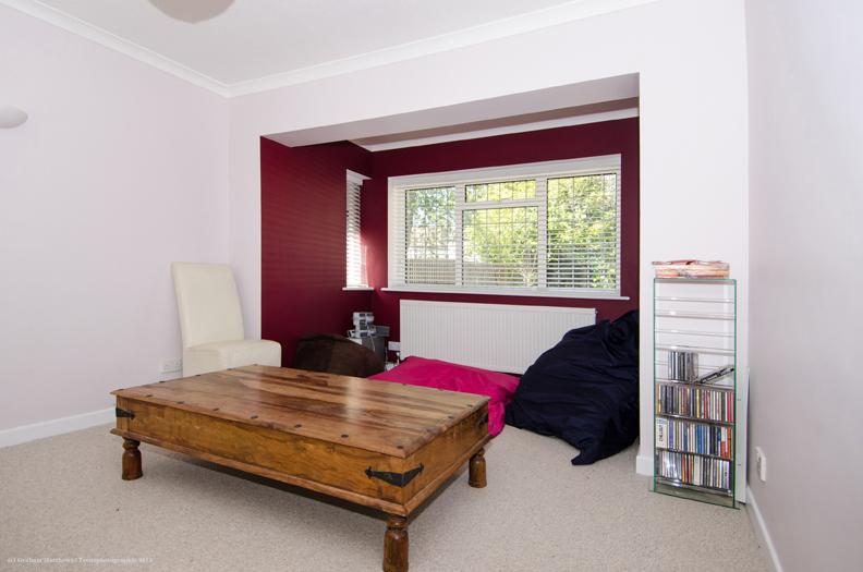 Image 23 - Bay window Extension.Red Wine paint with White reveals St Albans 2013