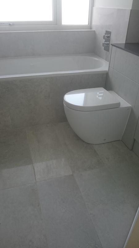 Image 18 - View of finished bathroom suite.