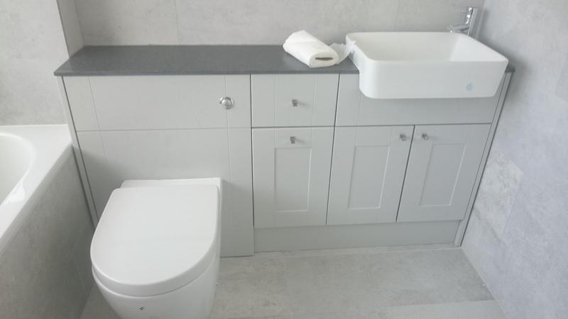 Image 19 - View of finished bathroom suite.