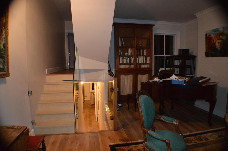 Image 7 - Refurbished living area and make bespoke stairgate with toughened glass