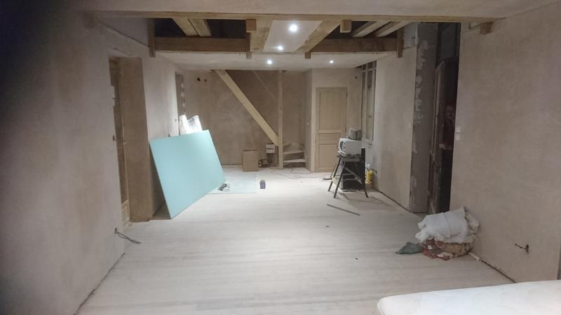 Image 31 - barn conversion being plastered