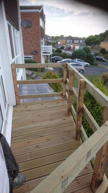 Image 43 - Decked balcony and railings