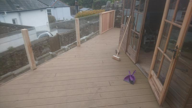 Image 25 - Composite decking with glass balustrade