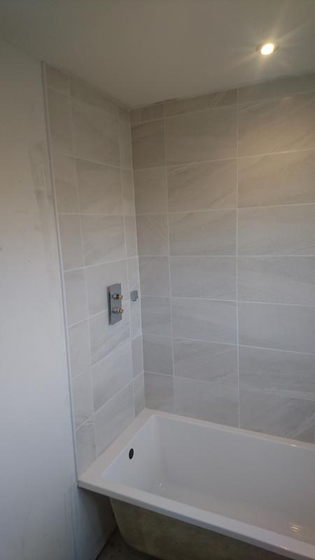 Image 47 - Freshly tiled bath