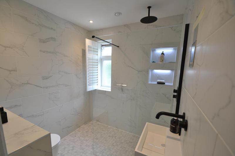 Image 11 - Marble Wet Room installation, August 2020