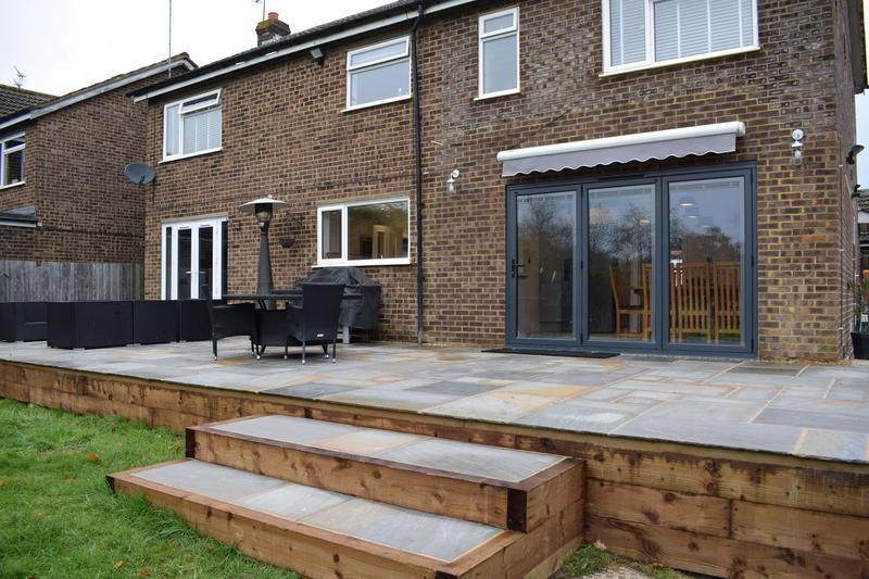 Image 3 - Expansive patio and landscaping work to a property in Park Street.