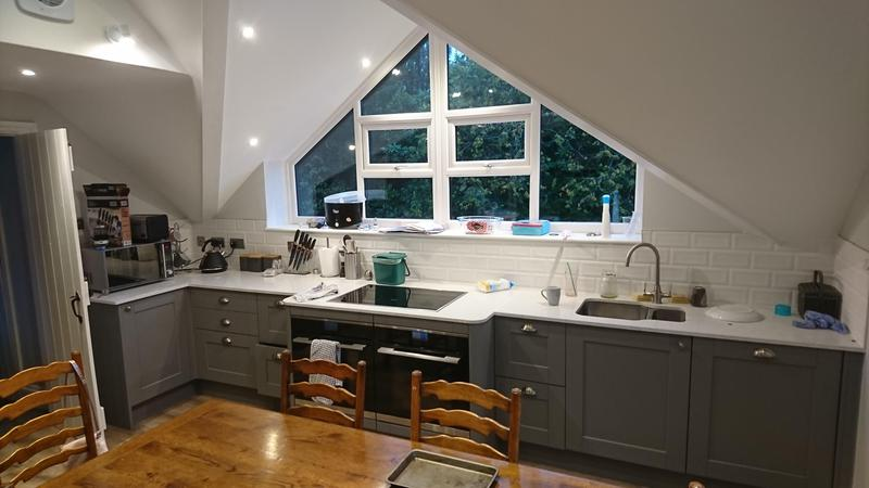 Image 2 - Kitchen install in gable roof