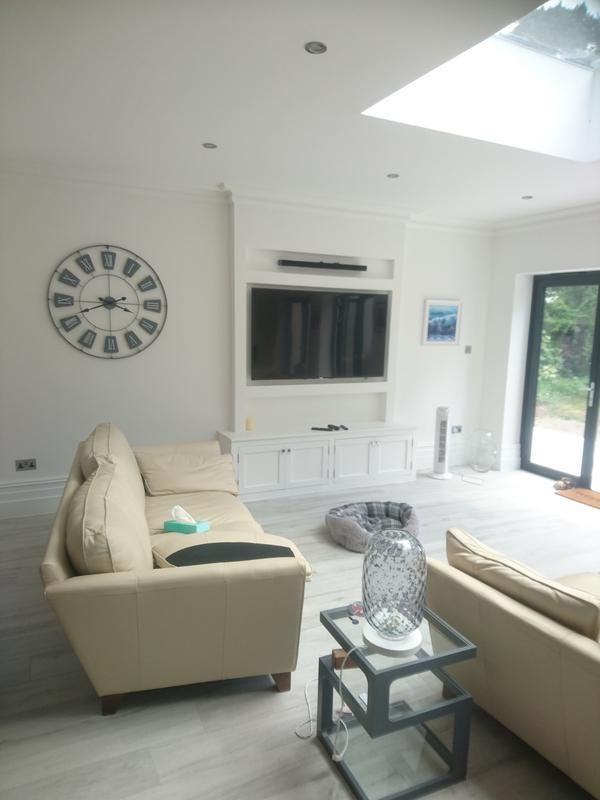 Image 6 - Electrical installation completed by us. We also designed and installed the TV area to the customers spec requirements.