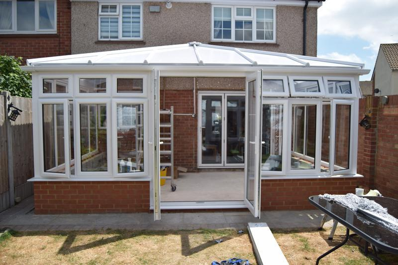 Image 110 - New conservatory erected with Opal Polycarboate Glazing to roof