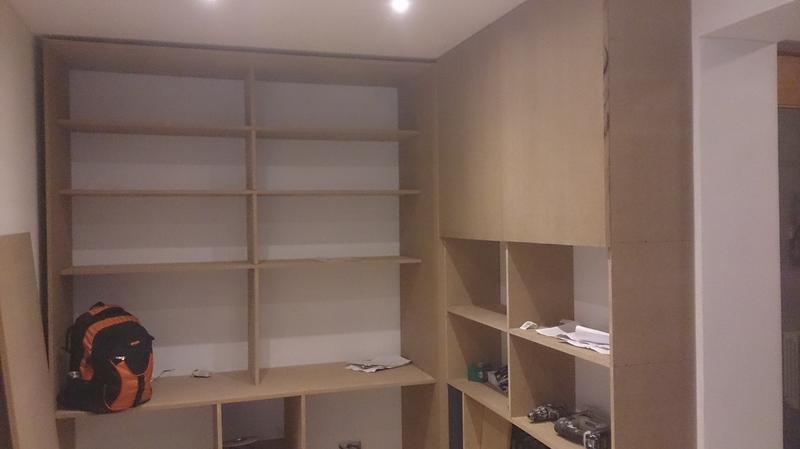 Image 7 - Custom made MDF shelving
