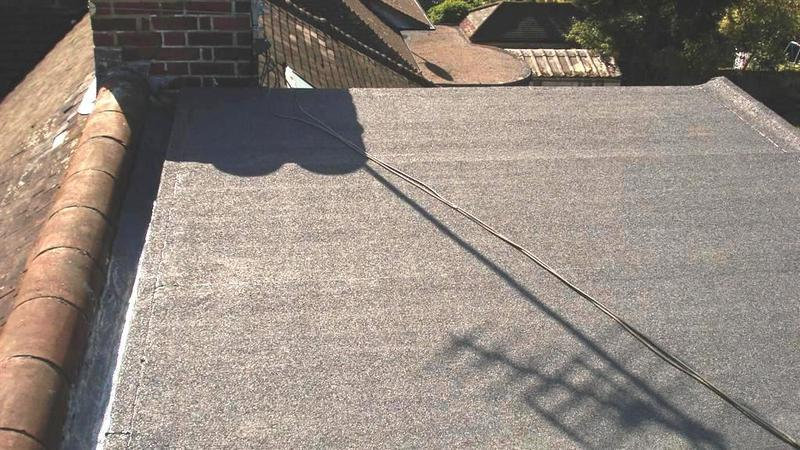 Image 5 - Flat roof finished with mineral surfaced felt