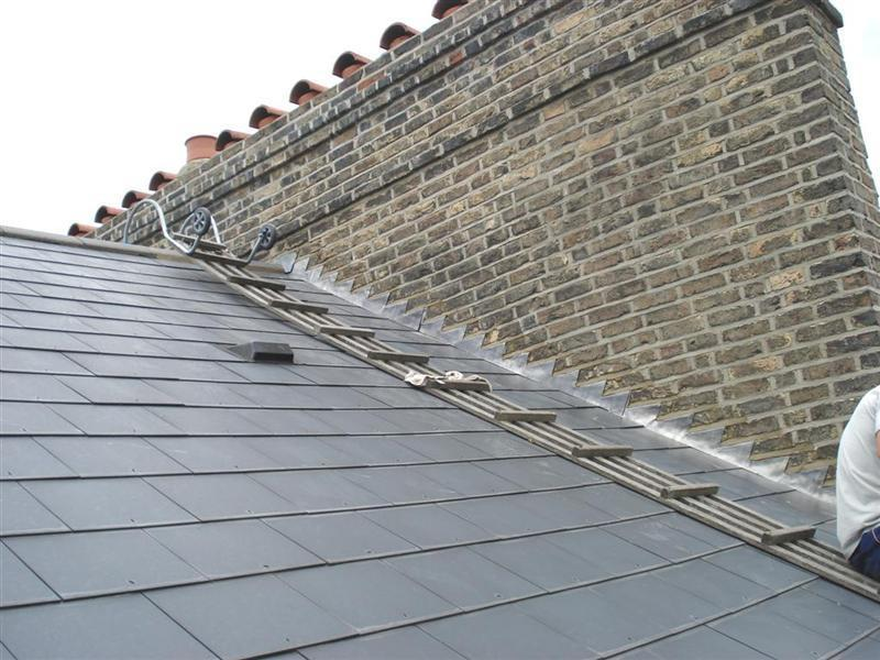 Image 20 - After reslating & pointing chimney stack