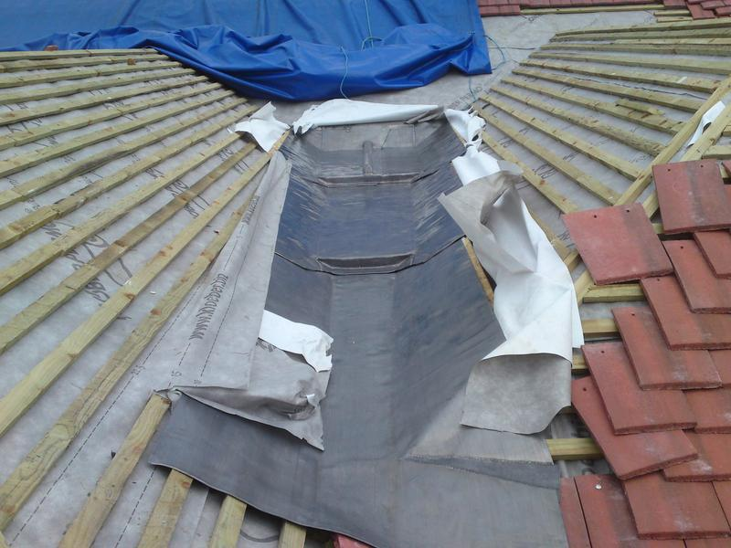Image 13 - newly laid valley gutter in code 5 lead
